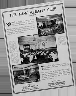 Albany Club History