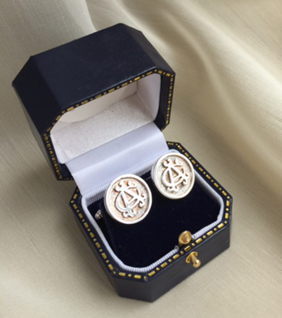 Albany Club Round Cufflinks